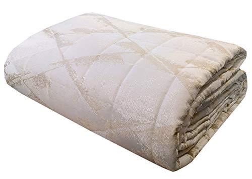 Laura Biagiotti Colcha de verano para cama de matrimonio de 2 plazas, 260 x 270 cm, tejido jacquard (circonita marfil)
