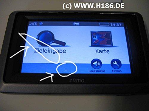 H186 REP_10 Kompatibel mit Garmin, Touchscreen Reparatur GPS Navigation Nuvi 550, Zumo 210 220 340 345 350 390 395 396 400 500 550 660, BMW Navigator IV, Becker Mamba.4, Tomtom Urban Rider Display