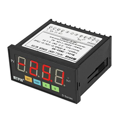 MyPin Digital Sensor Meter Multifunktions intelligente LED-Anzeige 0-75mV / 4-20mA / 0-10V Eingang Drucktransmitter
