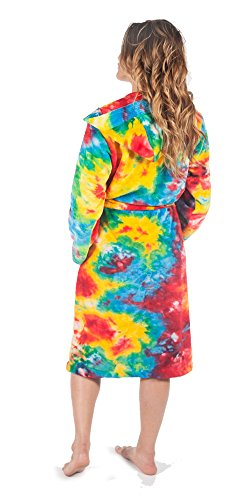Bathrobes for Women and Men, Hooded, Soft, Fuzzy Coral Fleece by Forever Lazy.
