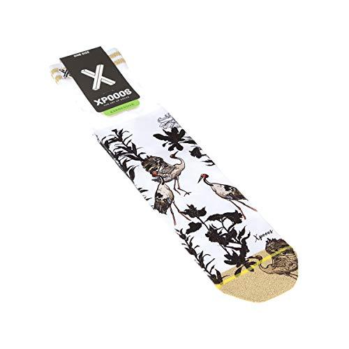 Xpooos Halbhohe Socken, 1 Paar, flache Nähte, Vogel, dünn Gr. One size, weiß