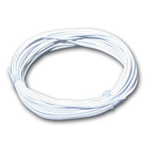 10m Zwillingslitze 0,14mm² Kupferlitze weiß Kabel