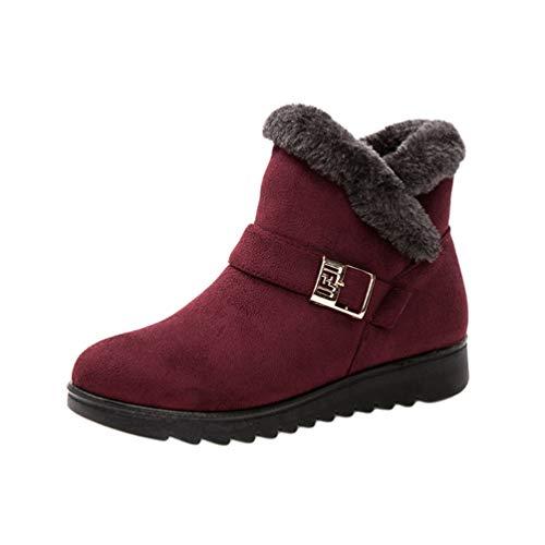 Cayuan Mujeres Botas de Nievede con Forro Calentar Antideslizante Tobillo Zapatos de Invierno Al Aire Libre Calientes Botines