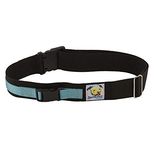 Squishy Face Studio Hands Free Dog Leash Belt - Medium-Large - Ocean Blue