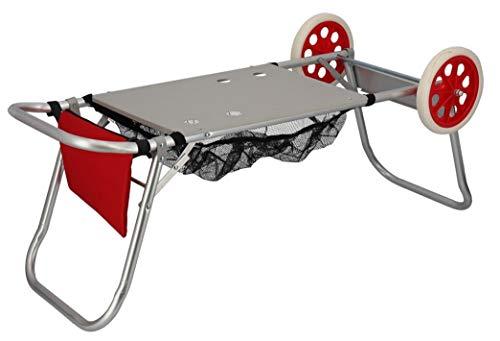 Gerimport Carro portasillas Playa Aluminio, 52 x 37 x 105 cm Rojo