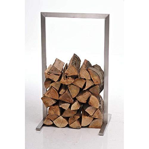 CLP Edelstahl-Kaminholzständer Sidone, Kaminholzregal bis zu 7 Größen wählbar, Farbe:Silber, Größe:100x100 cm