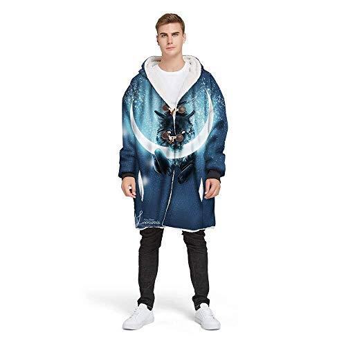 Hcxbb-g dekens, jas met capuchon voor mannen en vrouwen, gesp ontwerp, outdoor camping, winter warme trui met capuchon