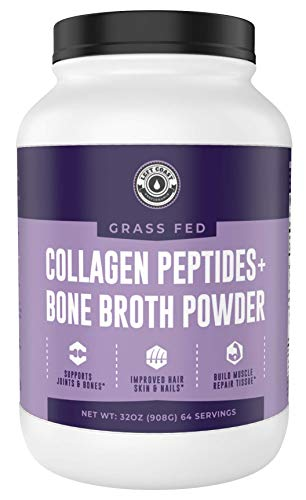 Collagen Bone Broth Powder 2lb | Grass Fed Bone Broth with Collagen Peptides - Unflavoured - Grass Fed, Hydrolyzed Beef, Zero Carb, Dairy Free Protein Powder - 64 Servings, by Left Coast Performance