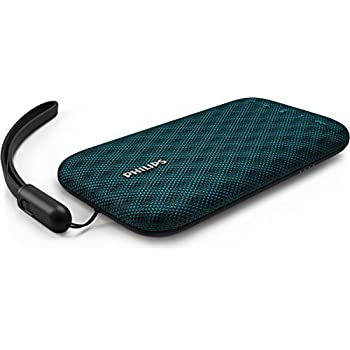 Philips BT3900A EverPlay Wireless Bluetooth Speaker Waterproof, Shockproof with USB Strap, Mic, Loud and Design Blue