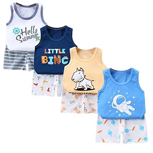 XM-Amigo Pack de 8 camisetas sin mangas para niño o bebé niño (6 meses a 5 años) Jungen03 18-24 Meses