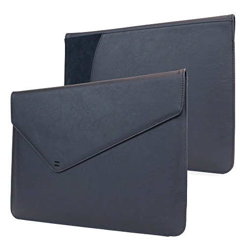 Snugg Macbook Pro Touch 13' (2016, 2017) Sleeve, Riverside Blue Leather Sleeve Case Protective Cover for Macbook Pro Touch 13' (2016, 2017) 13' Touchbar