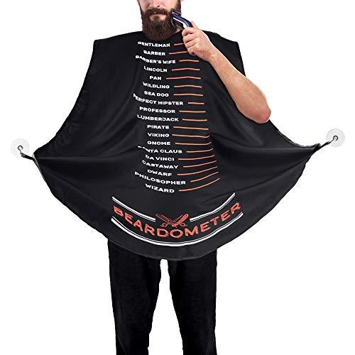 Froster Beardometer – Delantal de afeitado para barba con babero recortado con medida de la longitud de la barba, en caja de regalo