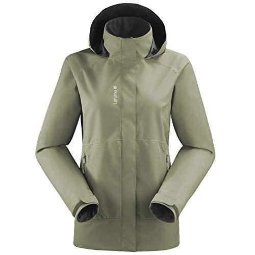 Lafuma - Way GTX Zip-In JKT W - Veste Hardshell Femme - Membrane Gore-Tex Imperméable et Coupe-Vent - Randonnée, Trekking, Lifestyle - Vert Amande