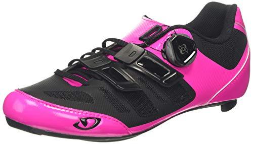 Giro Raes Techlace Womens Road Cycling Shoe − 40, Bright Pink/Black (2018)