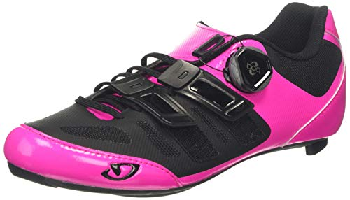 Giro Damen Raes Techlace Road Radsportschuhe-Rennrad, Mehrfarbig (Bright Pink/Black 000), 39 EU