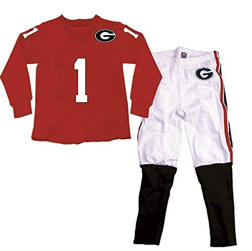Wes and Willy Boys Georgia Bulldogs UGA Pajamas LS Football Jersey PJ Set (14)