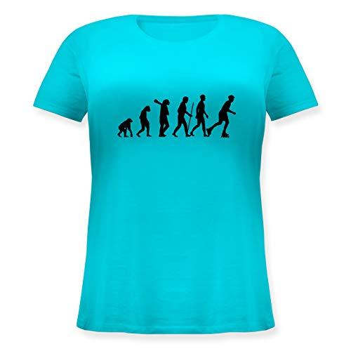 Evolution - Inliner Evolution - 48 Große Größen - Hellblau - Inliner - JHK601 - Lockeres Damen-Shirt in großen Größen mit Rundhalsausschnitt
