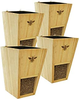 Set of 4 Woodlink Combination Mason Bee Houses and Planters