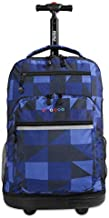 J World New York Sundance Rolling Backpack and Laptop Bag, Block Navy, One Size