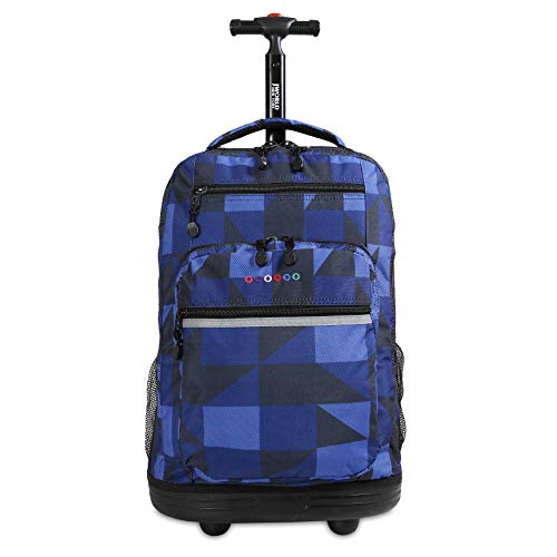 J World New York Sundance Laptop Rolling Backpack, Block Navy, One Size