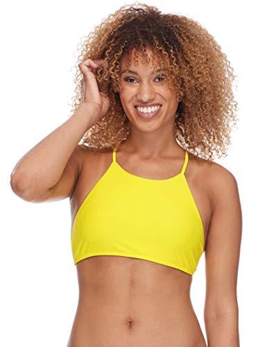 Body Glove dames Smoothies Elena Solid High Neck Crop Bikini Top Swimsuit Bikinitop