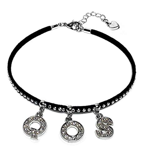 💕 Sexy Rhinestone QOS Anklet Jewelry 💕 - Hotwife, Queen, Hot Wife, Bracelet, Necklace, Queen of Spades, BBC, MFM, Swinger, Cuckold, Threesome (QOS)