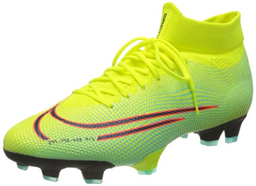 Nike Superfly 7 Pro MDS FG, Zapatillas de fútbol Unisex Adulto, Lemon Venom Black Aurora Green, 45 EU