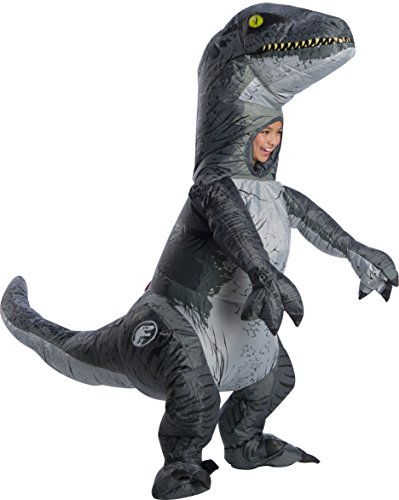 Rubies Jurassic World Fallen Kingdom Velociraptor Blue Deluxe Inflatable Child Costume