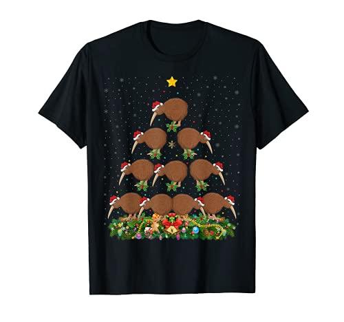 Kiwi Birds クリスマスツリー ギフト サンタハット キウイクリスマス Tシャツ