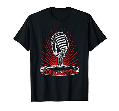 Podcaster Mikrofon Podcast-Mikrofon Podcast T-Shirt