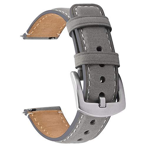Fullmosa Cinturino Orologio 22mm Compatibile con Samsung/Gear S3 Classic/Huawei Watch GT /22mm,Cinturino di Ricambio 22mm in Pelle a Sgancio Rapido e Installazione per Uomo e Donna