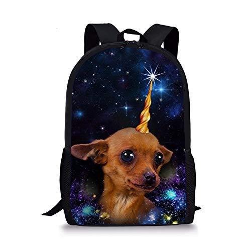 Student Bag, 3D Thermal Transfer Semi-Printing Backpack School Animal Cat Bag 3D Backpack Dog Picture, High Quality Bag Black