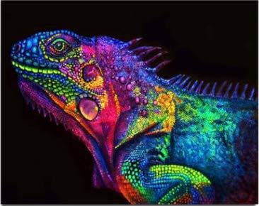 NOBRAND Pintura Digital DIY Kits de Pintura al óleo para Adultos y niños Artes Decorativas Pintar Animales sobre Lienzo por número 40X50cm sin Marco XIAOTANGYUAN