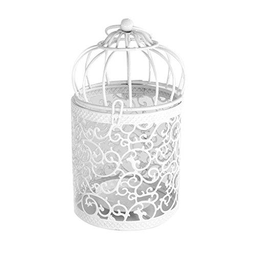 R-WEICHONG Vogelkäfig Hohlhalter Kerzenständer Teelicht Hängen Vintage-Schmiede Laterne New