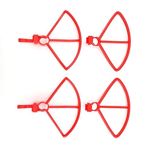 Jullyelegant 4PCS Anillo de protección Hélice Protector Protector Marco Cubierta Protectora para Hubsan Zino H117S RC Drone Blades Parts - Rojo