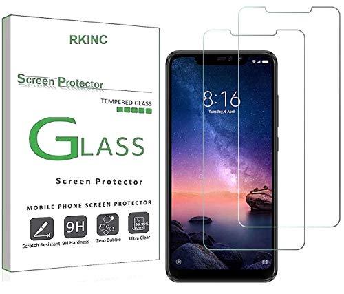 RKINC スクリーンプロテクタAsus Zenfone 2 ZE500KL用、[2パック] 強化ガラスクリアスクリーンプロテクター[9H硬度] [2.5Dラウンドエッジ] [スクラッチレジスト] にとってAsus Zenfone 2 ZE500KL