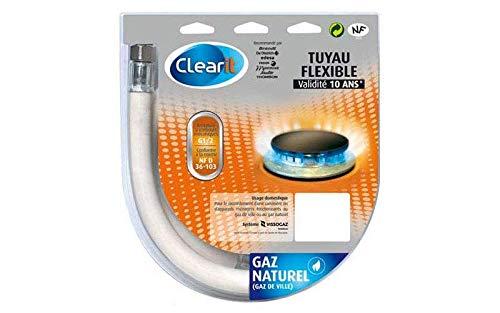 TUYAU DE GAZ NATUREL 1M50 POUR INSTALLATION CLEARIT - 75S2698