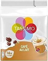 Tassimo Café Dosettes - 80 boissons Café au Lait (lot de 5 x 16 boissons)