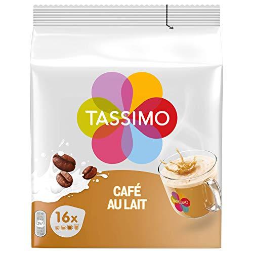 TASSIMO Dosettes Caf au Lait 80 Boissons (Pack de 5 x...