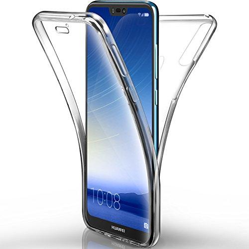 AROYI Huawei P20 lite Hülle, Silikon Crystal Full Schutz Cover transparent TPU Ultra dünn Case Vorne und Hinten Schutzhülle für Huawei P20 lite