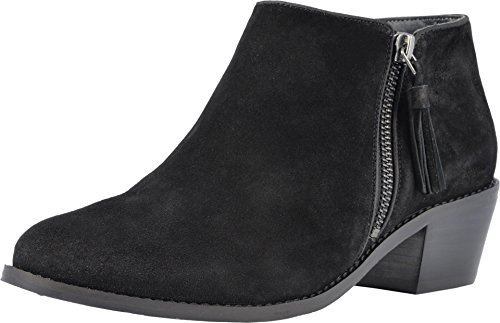 Vionic Women's Joy Serena Ankle Boot - Ladies Everyday Boots with Concealed Orthotic Arch Support Black 8 M US