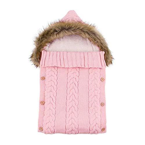 HJCWL 1 stks Baby Slaapzakken Swaddle Wrap Grijs Hooded borns Meisjes Gebreide Slaapzakken Winter Warm Infantil Jongens Kinderwagen Enveloppen,1