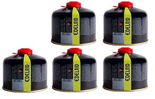 Optimus 5 x Edelrid Gaskartuschen mit je 230g für Gaskocher - auch als Notfallset geeignet