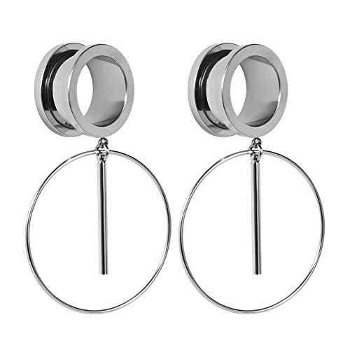 COOEAR Ohr Plug Tunnel Gauge Bahre Piercing Ring Design Anhänger Edelstahl Schraube 00G