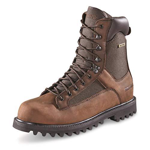 Huntrite Men's Insulated Waterproof Hunting Boots, 1,200-gram, Brown, 12D (Medium)