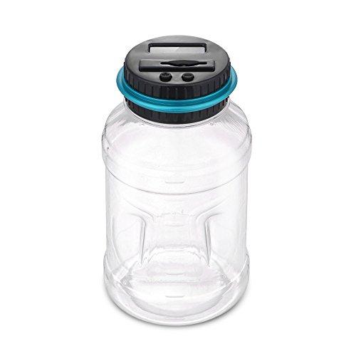 Kassa MYKK Spaarpot Teller Munt Elektronische Digitale Lcd Tellen Munt Spaarpot Jar 11.5 * 20 cm 1.8L USD Type