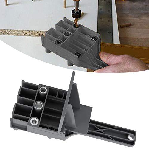 Localizador de punzones, guía de orificios, fácil de instalar Precisión de nivel milimétrico 41 piezas/juego para trabajos de carpintería Carpintería(grey, blue)