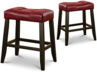 red bar stools for kitchen island