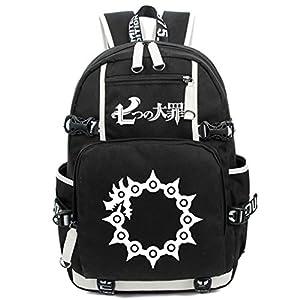 41VGjBP6nuL. SS300  - Cosstars The Seven Deadly Sins Anime Luminoso Mochilas de a Diario Backpack Bolso de Escuela