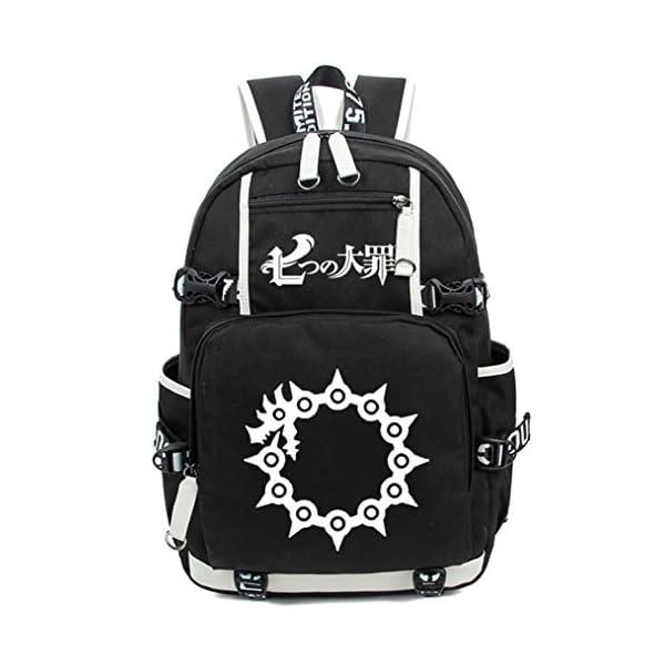 Cosstars The Seven Deadly Sins Anime Luminoso Mochilas de a Diario Backpack Bolso de Escuela
